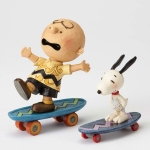 Charlie Brown and Snoopy Skateboarding