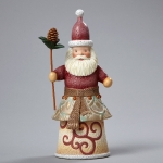 Santa with Pine Cone Staff