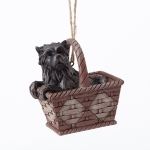 Toto in Basket Orn