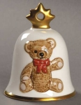 1987 Annual Christmas Bell, Teddy Bear