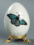 1991 Annual Easter Egg - Blue Temora