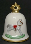 1991 Annual Christmas Bell Ornament, Rocking Horse
