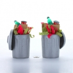 Christmas Trash Cans