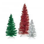 Classic Tinsel Trees, Set of 3