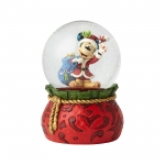 Santa Mickey 100mm Musical Waterball