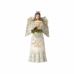 White Woodland Angel w/Basket