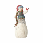 Folklore Snowman with Cardinal