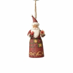 Folklore Santa with Birdhouse Orn