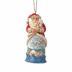 Coastal Santa with Fish Scene Orn