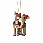 Rudolph and Clarice Dated Orn