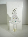 Crystal Christmas Tree Bottle Stopper