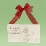 Blessed With Happiness Plaque