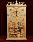 Gingerbread Mantel Clock with Cottages