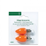 12V Orange Bulbs, Set of 2