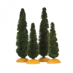 Cypress Trees, Set of 4