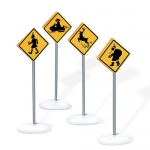 Christmas Eve Caution Signs, Set of 4