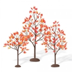 Autumn Maple Trees, Set of 3