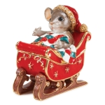 Mouse on Sleigh Box w/ Mini