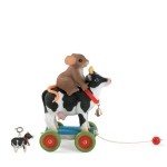 Cow Pull Toy and Charm