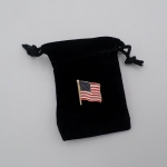 American Flag with felt bag