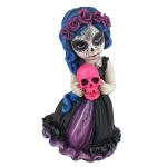 Day of the Dead Holding Pink Skull