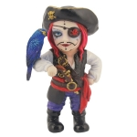 Pirate Captain with Eye Patch and Parakeet